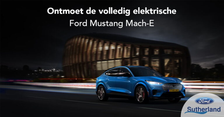Electrische Ford Mustang Mach-e